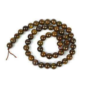 Bronzite Loose Beads Crystal Beads 8 mm Beads Stone Beads for Jewellery Making Bracelet Beads Mala Beads Necklace Crystal Beads