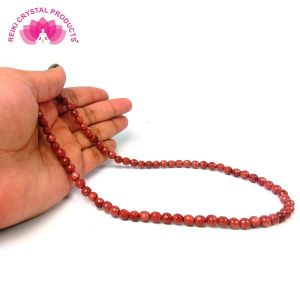 Goldstone Brown 6 mm Diamond Cut Beads Mala & Necklace ( 108 Beads, 26 Inch  Approx)