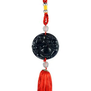 Car Decoration Hanging Accessories Feng Shui Black Laughing Buddha