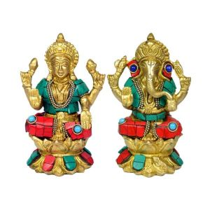 Brass laxmi Ganesha god for Home Decor, Gifting -1350-1450 Gram Approx