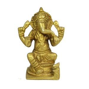 Brass Ganesha for Home Décor, Gifting, Diwali-300-350 Gram Approx
