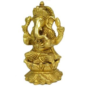 Brass Ganesha for Home Décor, Gifting, Diwali-700-800 Gram Approx