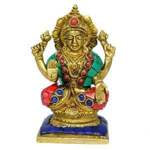 Brass laxmi Statue for Diwali, Home Decor-650-750 Gram Approx