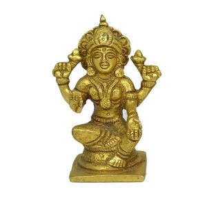 Brass laxmi Statue for Diwali, Home Decor-160-180 Gram Approx