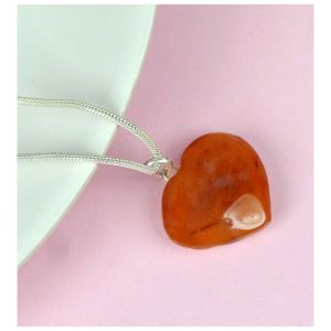 Carnelian Heart Shape Pendant - Size 25-30 mm approx