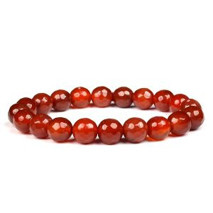 Carnelian Faceted 10 mm Bracelet