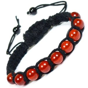 Carnelian 8mm Beads Thread Bracelet