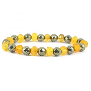 Citrine + Pyrite DC 8 mm Bracelet