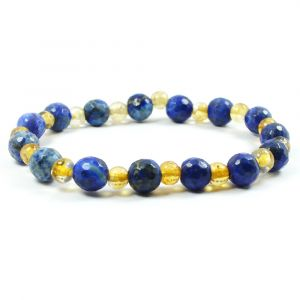 Citirne With Lapis Lazuli 8 mm Faceted Bead Bracelet