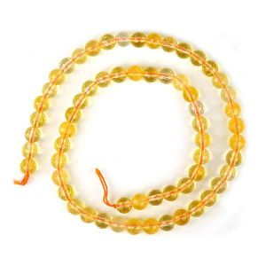 Citrine 6 mm Faceted Beads for Jewelery Making Bracelet, Necklace / Mala