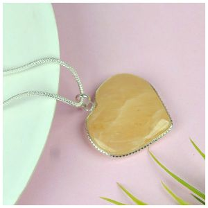 Golden Quartz Heart Shape Pendant - Size 30-35 mm approx