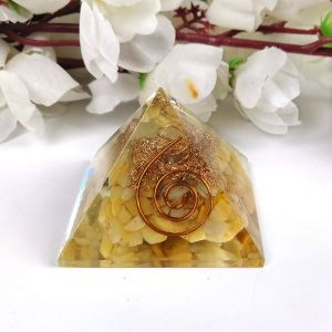 Citrine Orgone & Orgonite Pyramid