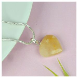 Citrine Heart Shape Pendant - Size 15-20 mm approx