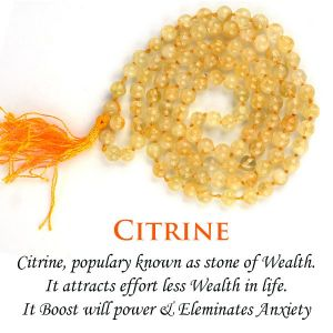 Citrine 6 mm Round Beads Mala & Necklace ( 108 Beads, 26 Inch  Approx)
