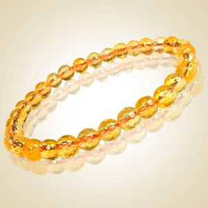 Citrine 6 mm Diamond Cut Bracelet