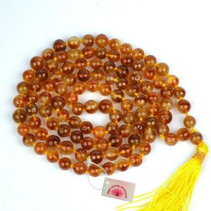 Citrine Honey 6 mm Round Beads Mala & Necklace