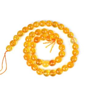 Citrine 8 mm Faceted Beads For Jewelery Making Bracelet, Necklace / Mala