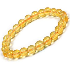 Citrine 8 mm Round Bead Bracelet