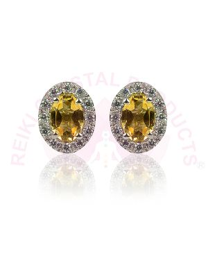 Citrine Studs - Earrings 92.5 Sterling Silver Stud/Earring for Women Girls