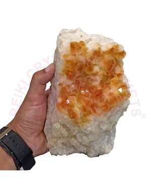Natural Citrine Cluster Stone  (Weight : 2 Kg Approx)