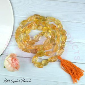 Citrine Tumble Bead Mala / Necklace