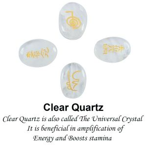 Clear Quartz Reiki Symbol Set 4 pc