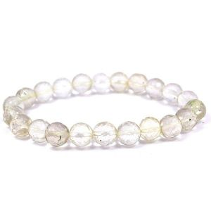 Clear Quartz 8 mm Faceted Bracelet