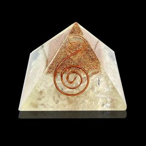 Clear Quartz Orgone & Orgonite Pyramid
