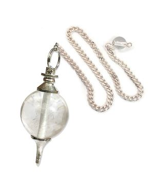 Clear Quartz Ball Dowser / Pendulum