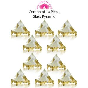 Glass Crystal Pyramid for Positive Energy-Combo-10