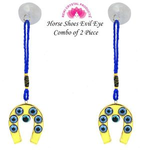 Hanging Horse Shoe Evil Eye pack of 2 pc
