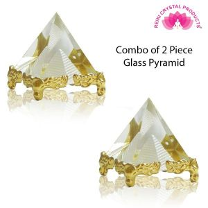 Glass Crystal Pyramid for Positive Energy-Combo-2