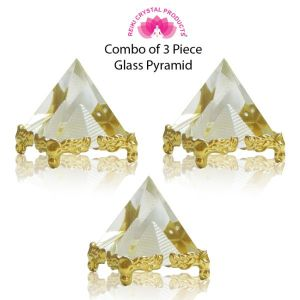 Glass Crystal Pyramid for Positive Energy-Combo-3