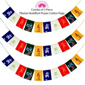 Tibetan Buddhist Prayer Cotton Flags for Car and Home Combo-3