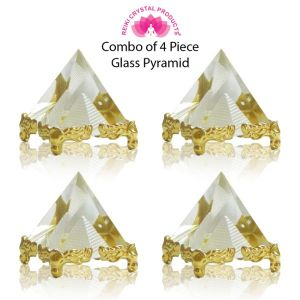 Glass Crystal Pyramid for Positive Energy-Combo-4