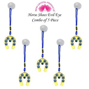 Hanging Horse Shoe Evil Eye pack of 5 pc