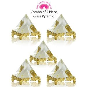 Glass Crystal Pyramid for Positive Energy-Combo-5