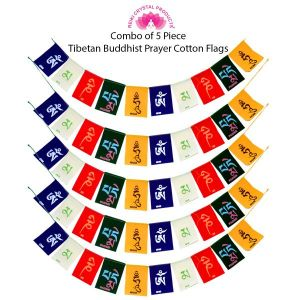 Tibetan Buddhist Prayer Cotton Flags for Car and Home Combo-5