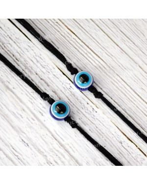 Evil Eye Wrist Band With Black Thread Protection, Negativity Band Pack of 2 pc