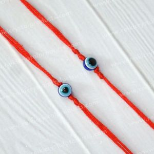 Evil Eye Wrist Band With Red Thread Protection, Negativity Band Pack of 2 pc