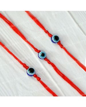 Evil Eye Wrist Band With Red Thread Protection, Negativity Band Pack of 3 pc