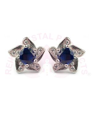 Silver Stud - Earring Blue Color for Women Girls