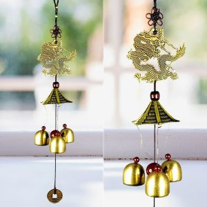 Fengshui Dragon Wind Chimes Home Positive Energy