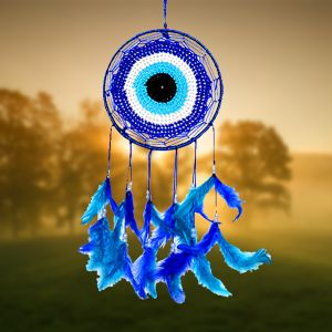 Evil Eye Dream Catcher Wall Hanging for Positive Energy
