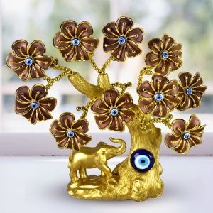 Elephant Evil Eye Tree for Good Luck, Gift & Decorative Showpiece