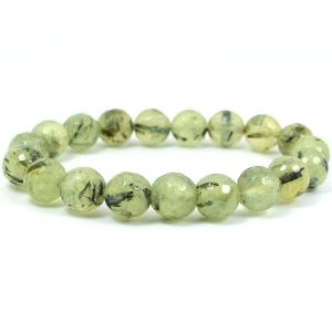 Epidote 8 mm Faceted Crystal Stone Bracelet