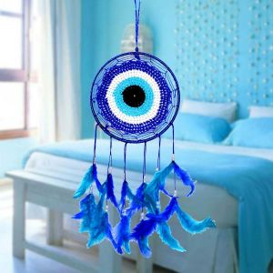 Evil Eye Dream Catcher Wall Hanging for Positive Energy and Protections 35 x 15 cm Approx