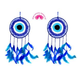 Evil Eye Dream Catcher Wall Hanging for Positive Energy -2 Pc