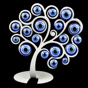 Vastu Fengshui Metal Evil Eye Tree for Good Luck, Gift & Decorative Showpiece