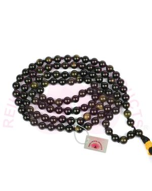 Eye Obsidian Crystal Stone 6 mm Round Beads Mala & Necklace